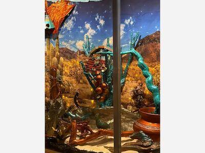 """Repression to Freedom"" an interpretative window display by Rene Sepulveda a natural view of freedom New York Avenue, Alamogordo"